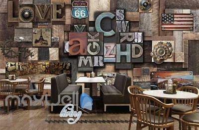 Poster Collage Poster With Letters And Usa Plates Art Wall Murals Wallpaper Deca