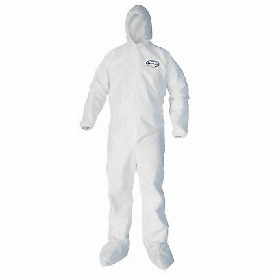 Kimberly-Clark Liquid/Particle Protection Coveralls LRG 25/CT White 44333