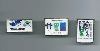 Set Of 3 Cardiff Rugby Union Badges