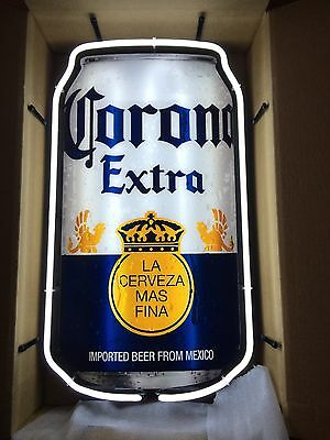 "Corona Extra Beer Can Neon Sign Man Cave Bar Garage 29"" X 17"""