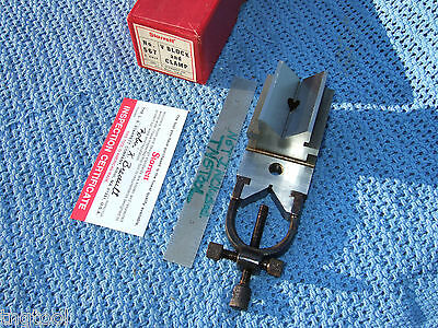 STARRETT TOOLMAKERS V-BLOCK No. 567 USA MACHINIST INSPECTION MILL GRINDER CLEAN!