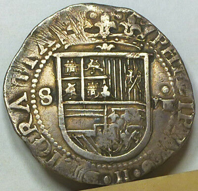 Spain Cob 8 Reales ND (1556-1598) Extremely Fine