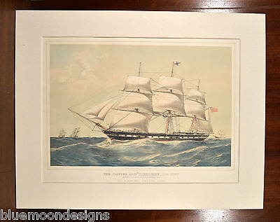 The Clipper Ship Yorkshire Duffon 1860 Schiff Boot Segelboot Düsseldorf 43x54 cm