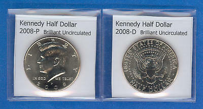 Kennedy Half Dollars: 2008-P and 2008-D from Mint Rolls