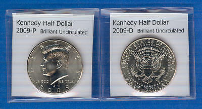 Kennedy Half Dollars: 2009-P and 2009-D from Mint Rolls