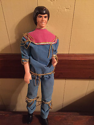 Vintage Mattel Donny Osmond Doll Rockin' Blue Jumpsuit with Gold Fringe
