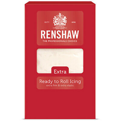 Renshaw Extra Ready-to-Roll Icing - White 1KG - Cake Covering Deep Cakes Novelty