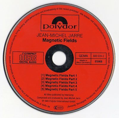 "Jean Michel Jarre ""magnetic Fields"" West German Red Face Cd / Polydor 800 024-2"