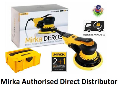 MIRKA DEROS 650CV ELECTRIC Random Orbital Sander 150mm 5mm Hub 2+1 Year WARRANTY