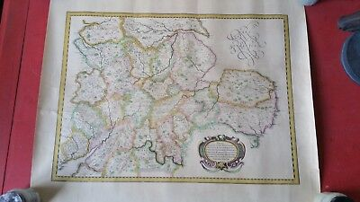 Old Vintage Reproduction Map Of The English Shires