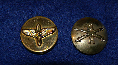 WW2 / Post WWII Korea US 42nd Aviator Collar Disc Wing Pilot Pin Aviation Disk