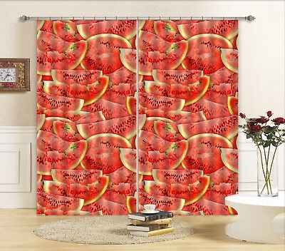 3D Red Watermelon 5 Blockout Photo Curtain Curtains Drapes Fabric Window CA
