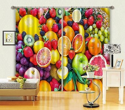 3D Colorful Fruits 63 Blockout Photo Curtain Curtains Drapes Fabric Window CA