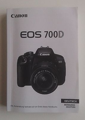 Canon EOS 700 D original owners instruction manual user guide German Deutsch