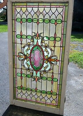 Antique Victorian stained glass window