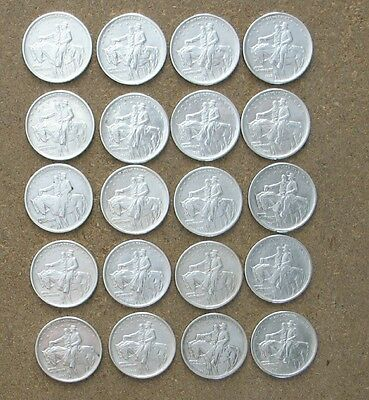 Roll (20 Coins)  1925 Stone Mountain   Commemorative Silver Halves.. Ch/gem Bu