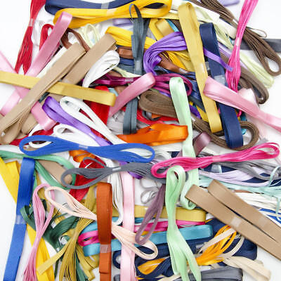 50 x 3m Assorted Colours Narrow Ribbons Bundle Job Lot