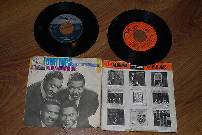 2x Single Vinyl THE FOUR TOPS Standing in the Shadow of Love  Reach out i´ll be
