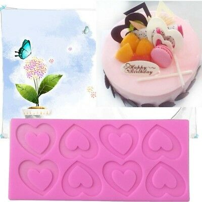 New Lovely Hearts Silicone Baking Mould Chocolate Cake Cookies Mold