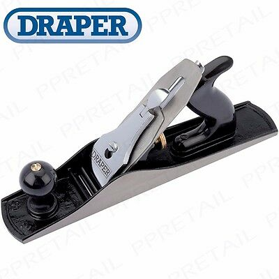 DRAPER HEAVY DUTY 355mm SOFT GRIP SMOOTHING PLANE Adjustable Blade CAST IRON