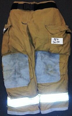 36x30 Pants Firefighter Turnout Bunker Fire Gear w/ Inner Liner Globe P691