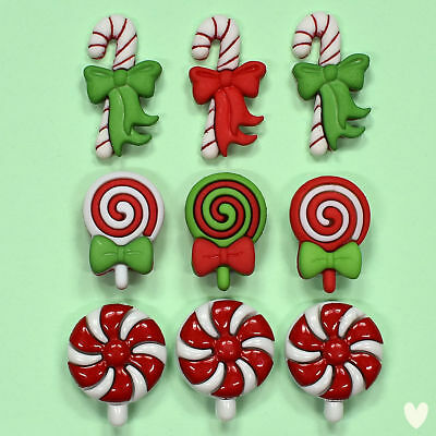 Buttons Galore Christmas Candy 4766  - Sweets Lollipops Christmas Dress It Up