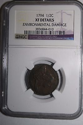 1794 US Half Cent XF Details NGC