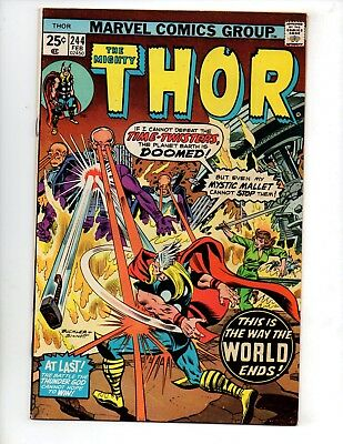 "Thor #244 (Feb 1976, Marvel) VF- 7.5 ""THOR VS. TIME-TWISTERS, ZARKO"""