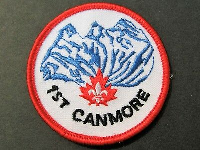Boy Scouts Canada 1St Canmore Alberta Embroidered Patch Cubs Scouting