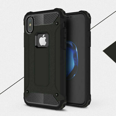 Black Armor Case for Apple iPhone X / iPhone XS Back Cover