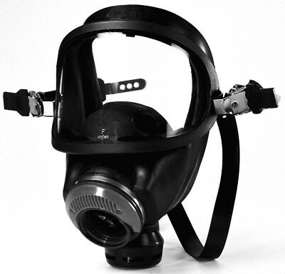 MSA AUER 3S GAS MASK. NEW IN ORIGINAL BOX WITH 40mm FILTER CANISTER