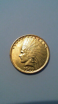 1907 Gold $10 Indian Head Gold Eagle