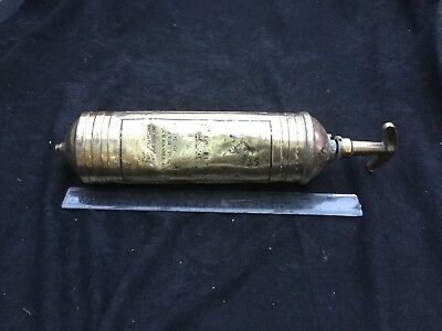 Vintage Brass Naval Wartime  Fire Extinguisher With Anchor Cast In