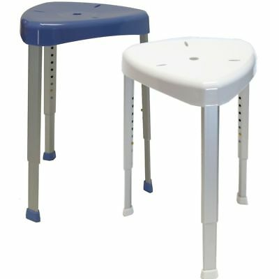 Corner Shower Seat Stool Chair White Mobility Disability Aid W/ Adjustable Legs