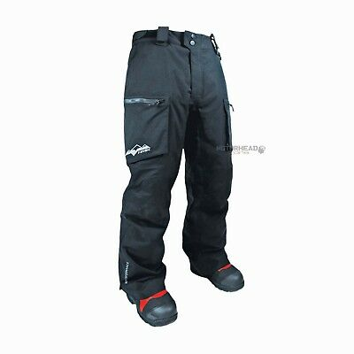 HMK Superior TR Pants Black Large Men Snowmobile Bibs Snow Winter Waterproof