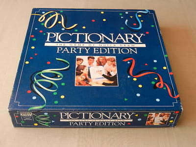 PICTIONARY Vintage BOARD GAME Party Edition Parker Brothers 1993