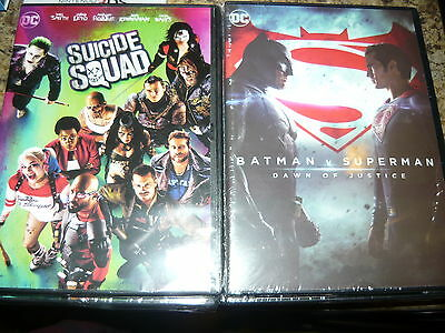 NEW lot of 2 Suicide squad and  BATMAN V SUPERMAN DAWN OF JUSTICEdc universe