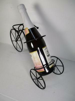 Tricycle Bicycle Antique Style Tabletop Metal Wine Bottle Rack Black Finish