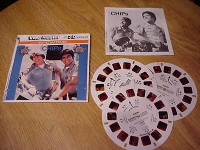 1980 CHIPS View-Master 3D Picture Packet - Erik Estrada - Larry Wilcox