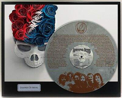 "Grateful Dead Laser Etched Grey Vinyl w/ lyrics to Touch Of Grey Display ""M4"