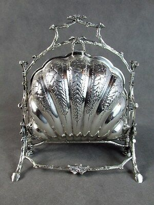 "Hand Chased ENGLISH .800 Silver BUN WARMER~~""Twig"" Frame ""No Reserve"""