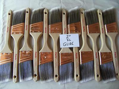 "PURDY paint brush lot of 12 XL Glide 2"".  No covers.  New, Great buy! Limited."