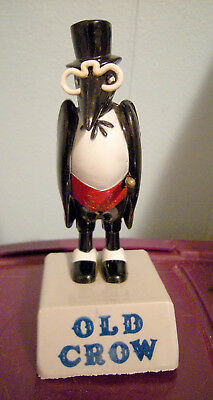 """Vintage Old Crow Whiskey 5"""" Tall Plastic Composition Figurine Kentucky Whiskies"""