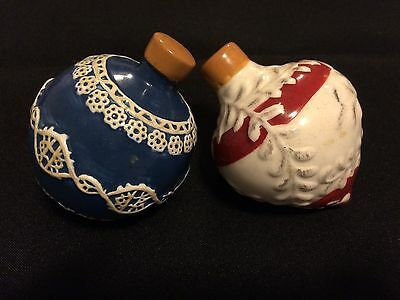 Christmas Ornaments Salt And Pepper Shaker Set NIB by Home Trends