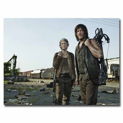 The Walking Dead Daryl & Carol 12X8inch TV Silk Poster Art Print Cool Gifts Hot
