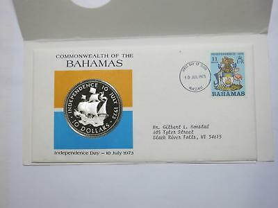 Bahamas 1973 $10 Silver Proof Santa Maria Ship Cover World Coin Collection Lot
