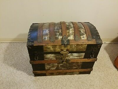 Antique Steamer Trunk - Dome Top