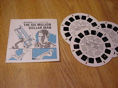 1974 THE SIX MILLION DOLLAR MAN View-Master 3D Picture Packet - Lee Majors
