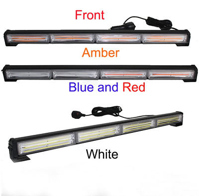 White 23'' high power 72w cob external warning light emergency strobe light bar