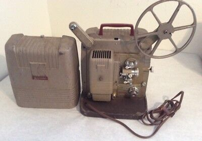 Vintage Keystone K100 8mm Film Movie Projector And Bulb Work
